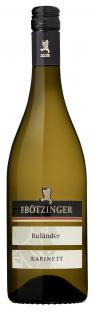 Flasche Wein Winzergenossenschaft Bötzingen Ruländer Kabinett
